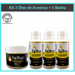 Kit 3 Oleo de Avestruz + 1 Banha