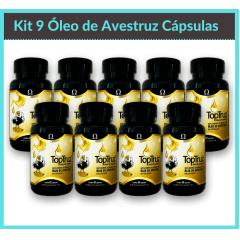 Kit 9 Óleo de Avestruz Cápsulas
